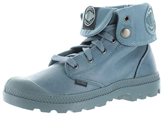 Palladium Women's Baggy Leather Snow Boot,Nordic Blue,6 M US